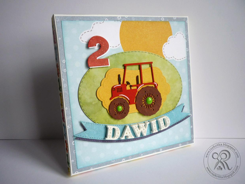 Urodzinowa kartka z traktorem