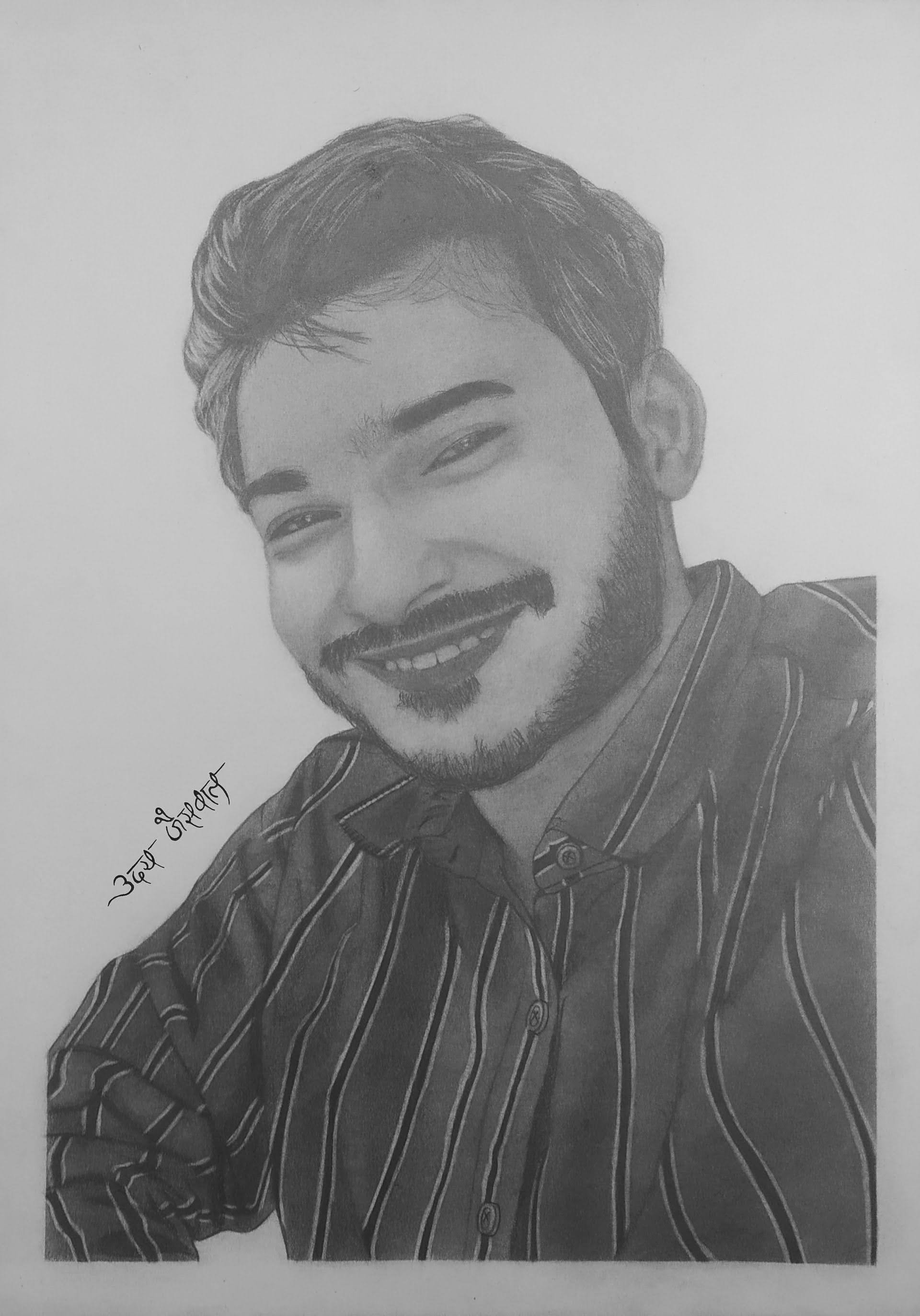 Mr. Apoorv Pencil Sketch