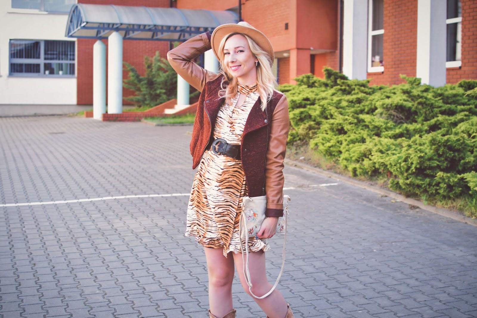 bonprix, bonprix.pl, moda, wiosna, kowbojki, kozaki, czasnabuty.pl, sukienka, tygrys, kolczyki, biżuteriapiotrowski, kapelusz, torebka, szaleo, kurtka, Butik,