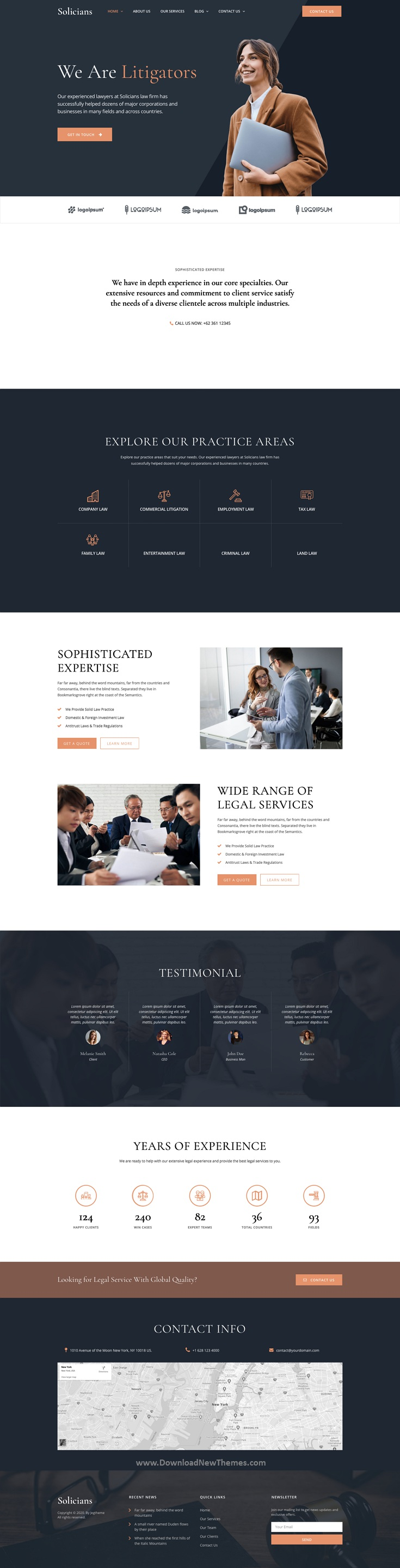 Attorney Law Firm Website Template