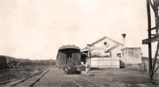 Estação de Juquiá, por volta de 1930-40. Acervo Wanderlei Duck.