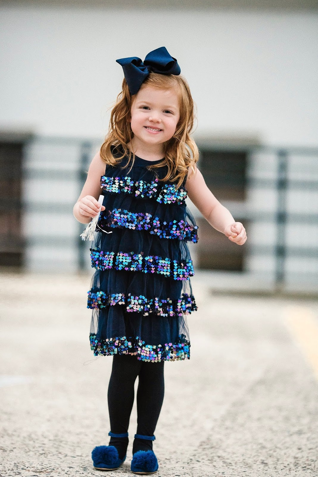 NYE Look for Girls: Crewcuts Tiered Sequin Dress - Something Delightful Blog