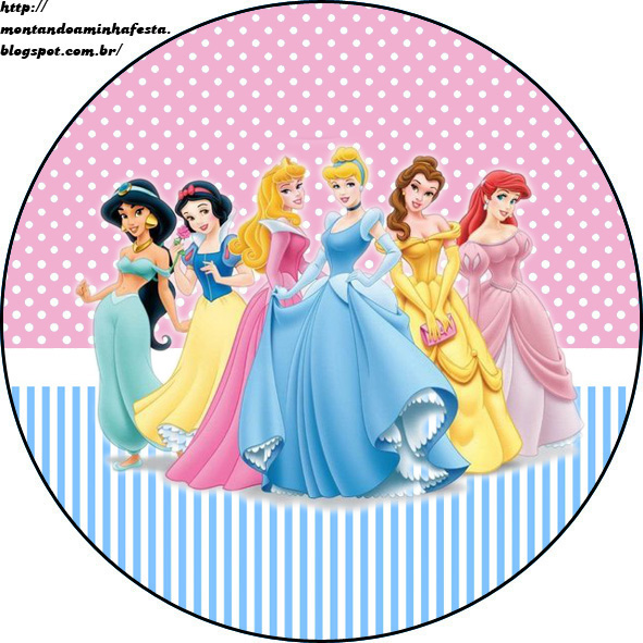 Montando Minha Festa Kit Para Imprimir Gratis Princesas Disney