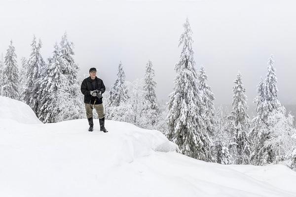 Hannu Pakarinen photo documental, finland people, winter, neige,