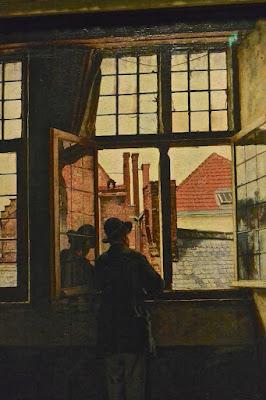 Bruxelles musées royaux  des beaux-arts Henri de Braekeleer : la fenêtre (1874-76)