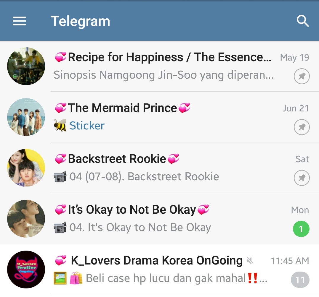 Cara Masuk ke dalam Grup Telegram Drama Korea (Drakor ...