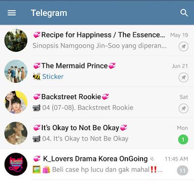 Cara Masuk ke dalam Grup Telegram Drama Korea (Drakor)
