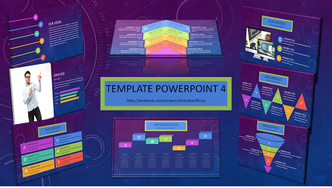 Template Powerpoint 4 (+Video tutorial transition dan cara edit chart/graph) 100 slides