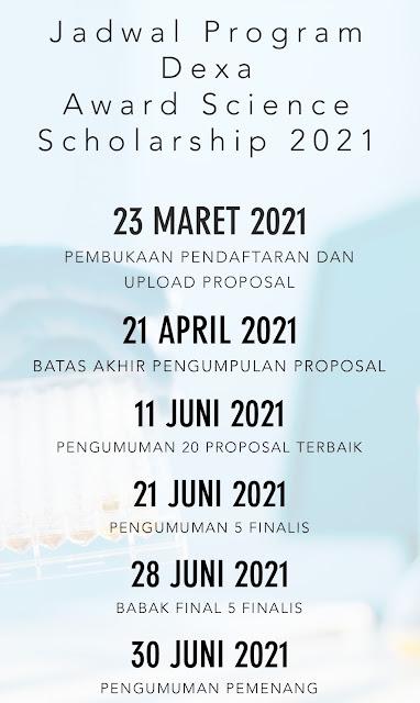 Dexa Award Science Scholarship 2021 Telah Dibuka, Deadline 21 April