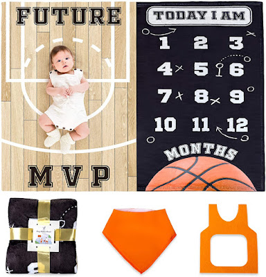 Baby Monthly Calendar Blanket