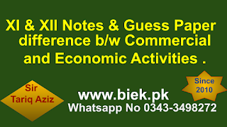 Commercial and Economic Activities
