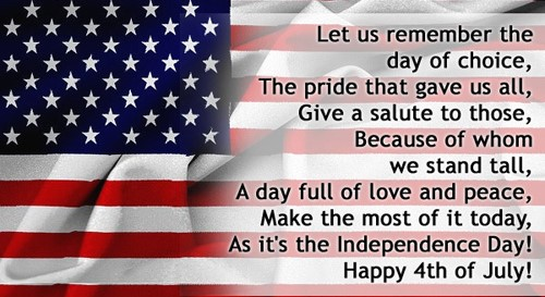 Happy 4th of July Poems 2017