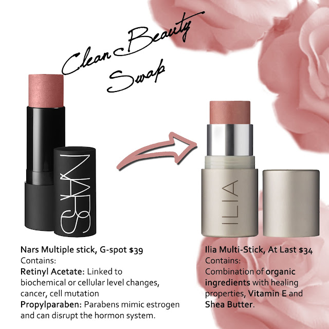 clean beauty swap nars multiple stick to ilia multi-stick