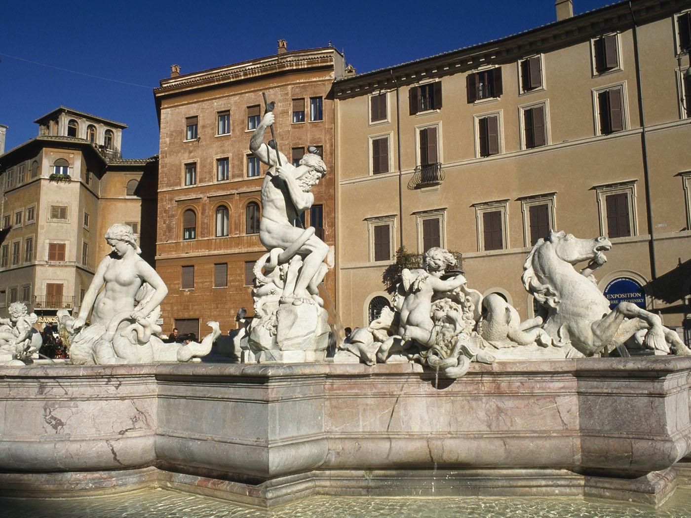 Скульптуры в Риме, Италия