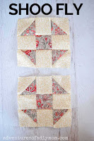 two shoo fly quilt blocks