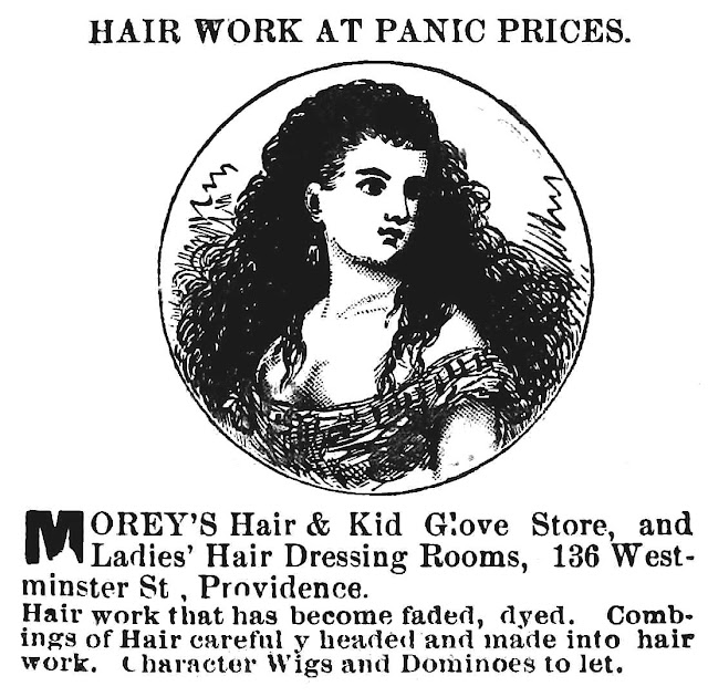 Commercial human hair 1884