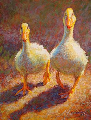 """Waddlers"" pastel, 12x9 by Rita Kirkman"