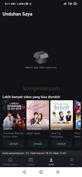 Tampilan aplikasi iQIYI