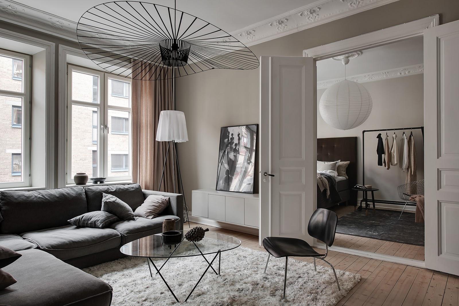 Appartamento scandinavo in grigio beige arc art blog by for Grigio e beige arredamento