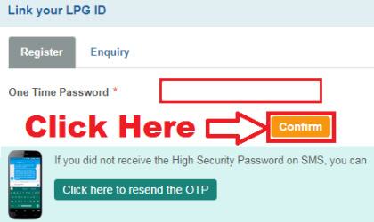 how to link lpg id to sbi