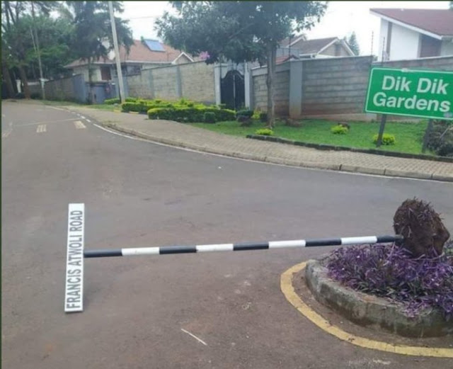 Francis Atwoli Road signpost upfrooted photo