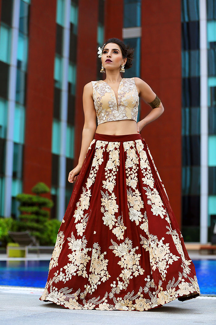 04fb11de2ad3e Bridal Outfit - The Attic Gray (Pale gold lace blouse