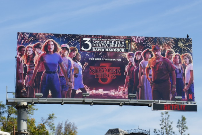 Stranger Things 3 SAG Awards nominee billboard