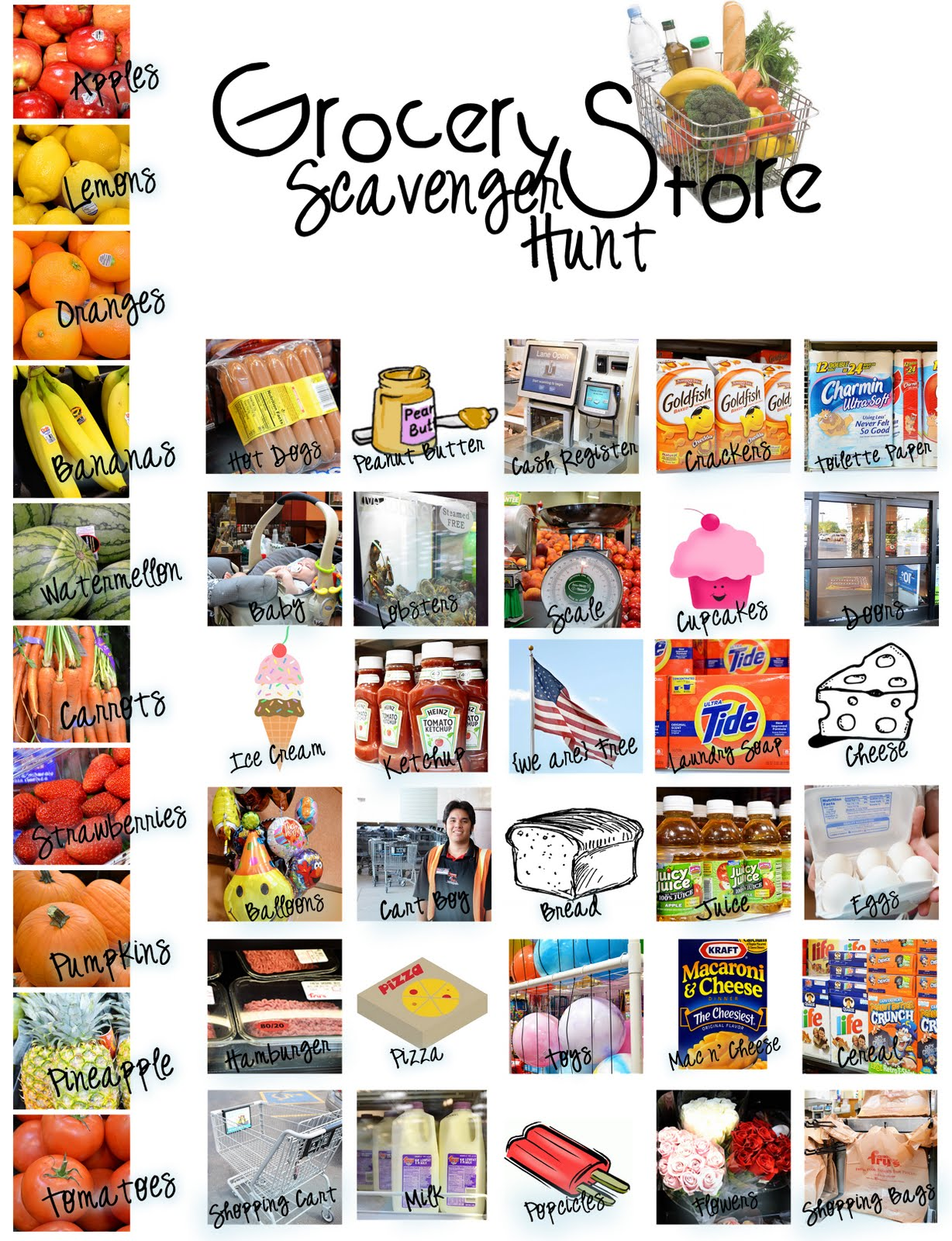 The Sew Er The Caker The Copycat Maker Grocery Scavenger Hunt