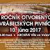 4. Ročník otvorených vrábeľských pivníc 2017 (10.6.2017)