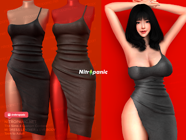 MI DRESS Leather for The Sims 4