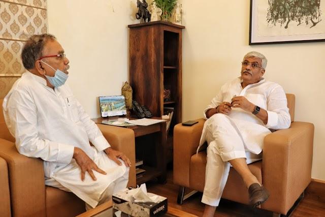 केंद्रीय मंत्री से मिले बिहार के पीएचईडी मंत्री