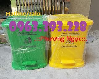 Thùng rác y tế đạp chân, thùng chứa rác thải lây nhiễm, thùng đựng rác thải y tế Aec5af2ea240441e1d51