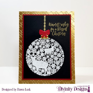 Stamp/Die Duos: Deer Ornament, Embossing Folder: Cross Stitch, Custom Dies: Double Stitched Rectangles, Rectangles