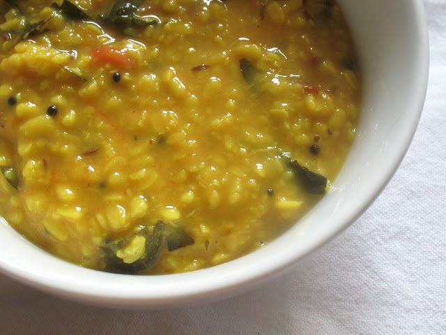 simple lemon urad dal