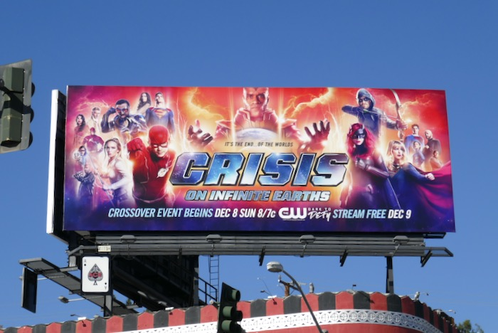 Crisis on Infinite Earths DC crossover billboard