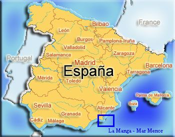 Map Of Spain La Manga.Land Of The Sun Over Two Seas La Manga Spain La Manga Del Mar Menor