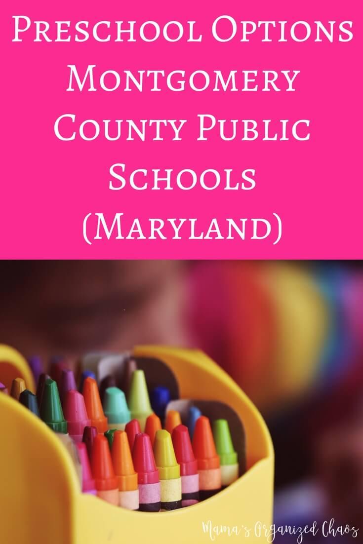 Preschool Options Montgomery County Public Schools (Maryland