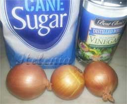 - сахар - 1\3 ч. л  - растительное масло - 0.5 ч . л .