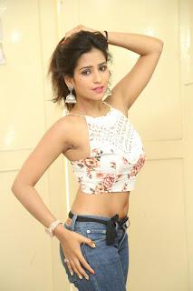 Deekshita Parvathi in a short crop top and Denim Jeans Spicy Pics Beautiful Actress Deekshita Parvathi January 2017 CelebxNext (236).JPG