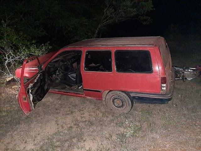 São Félix do Piauí: Colisão entre carro e moto na PI-225; homem fica ferido.