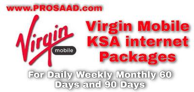 Virgin Mobile KSA internet Packages