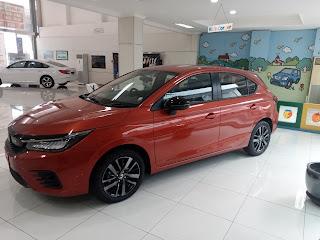 New Honda City Hachback Phoenix Orange Pearl