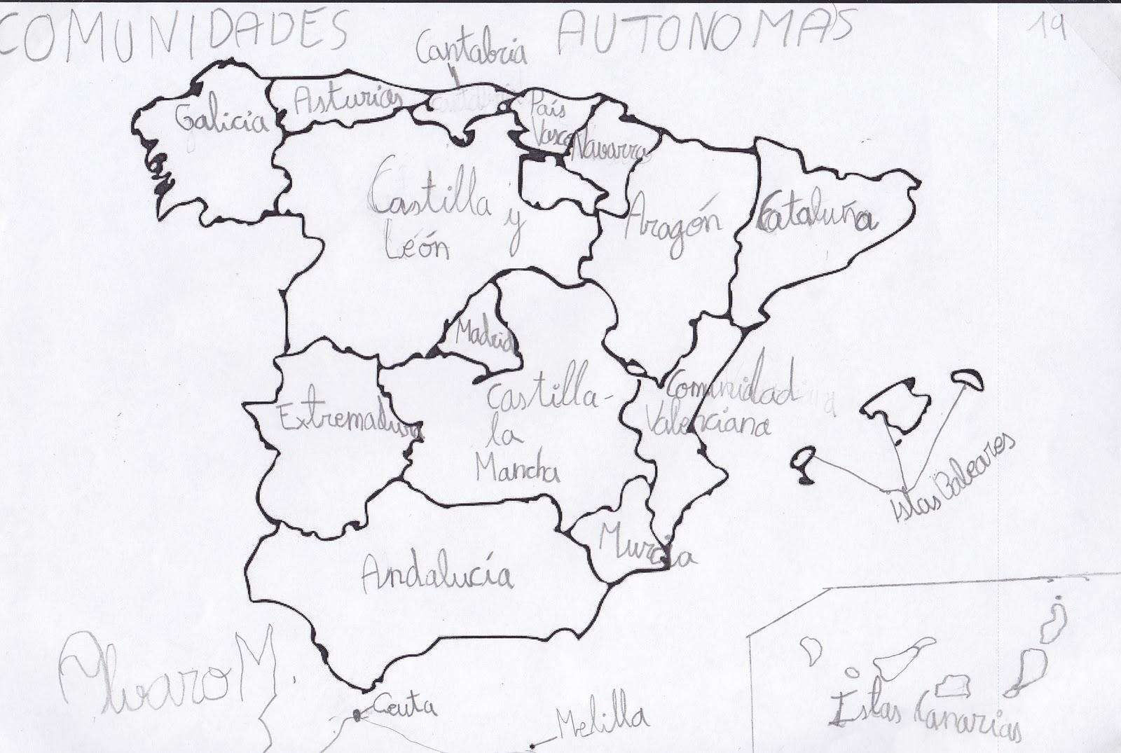 Ceip El Zargal Second Grade Comunidades Autonomas