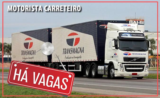 TransMagna abre vagas para Motorista Carreteiro