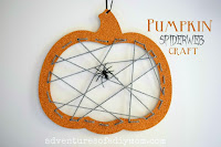 pumpkin spiderweb craft