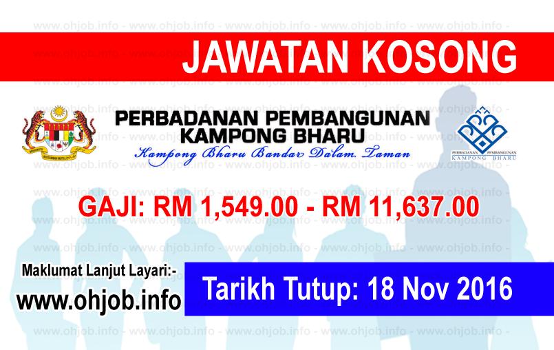 Jawatan Kerja Kosong Perbadanan Kampong Bharu (PKB) logo www.ohjob.info november 2016