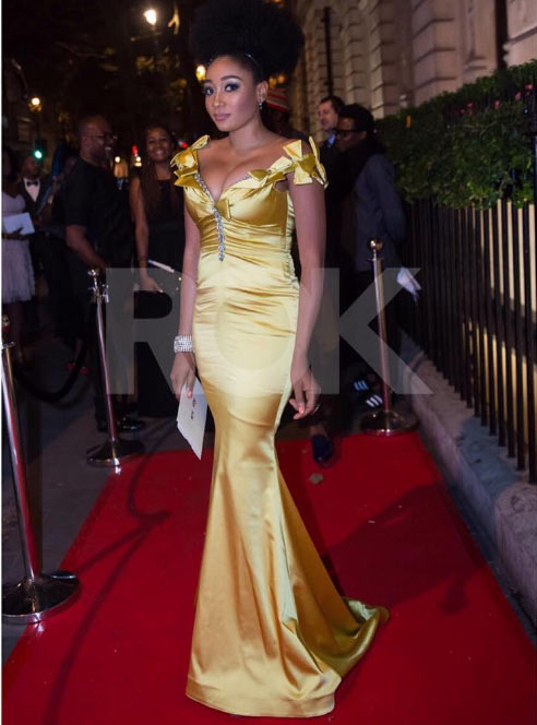 Is there anything wrong with actress Mbong Amata's dressing here?