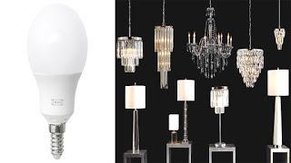 لا يمكنك إستخدام مصابيح LED داخل أو مع الثريات