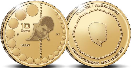 Netherlands 10 euro 2021 gold - Anton Geesink