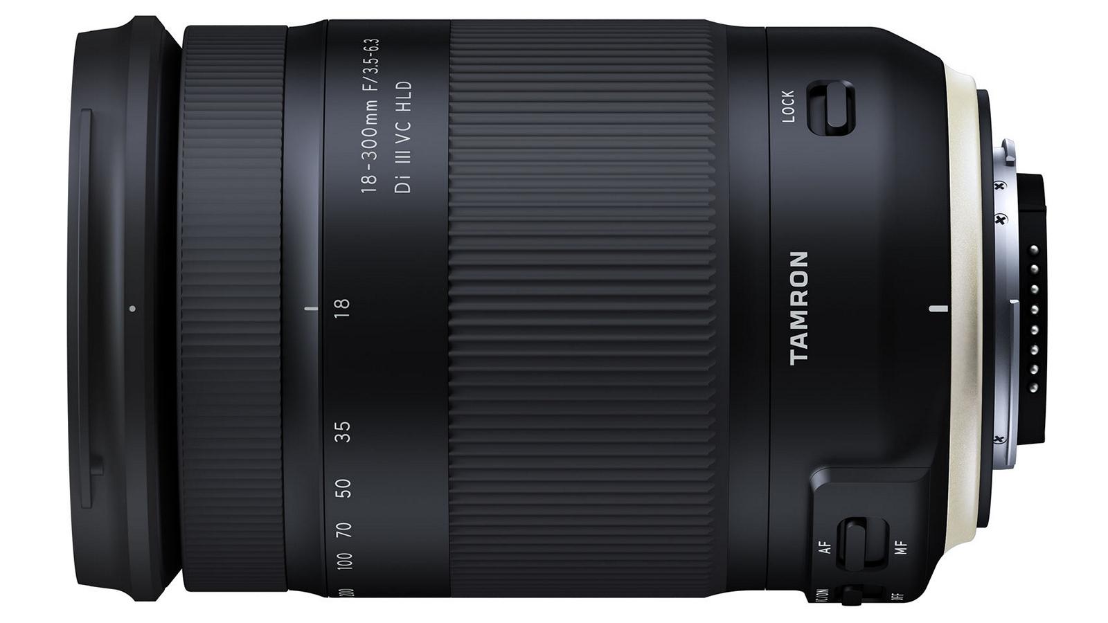 Возможный внешний вид объектива Tamron 18-300mm f/3.5-6.3 Di III-A VC VXD